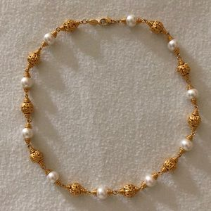 Vintage Napier Gold and Pearl Necklace